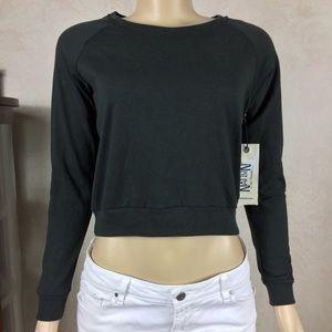 Nation LTD Charcoal Gray Raglan Sweatshirt Size XS